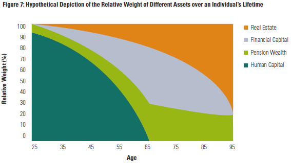 Relative Weight Of Household Wealth Categories Over A Lifetime - Morningstar No Portfolio Is An Island By Blanchett And Straehl