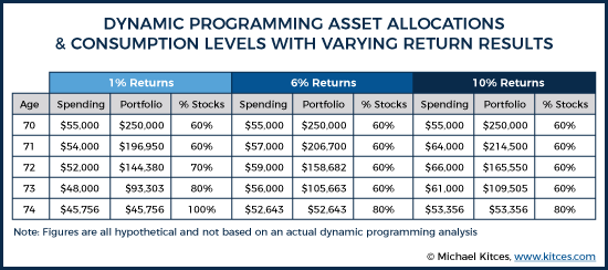 Dynamic Programming Asset Allocations & Consumption Levels With Varying Return Results